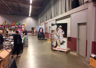 Impression de panneaux pour la convention Back to Retro