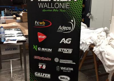 Rollup pour l'équipe cycliste Mérida Wallonie