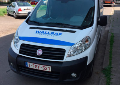 Lettrage camionnette pour la société Wallraf Nettoyage
