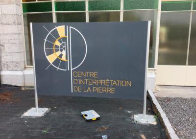 Panneaux pour la Centre d'interprétation de la pierre de Sprimont