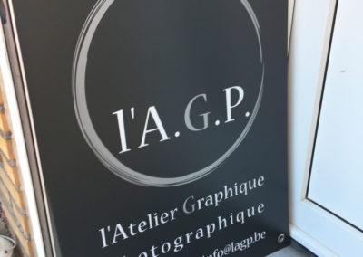 Panneaux publicitaire pour l'AGP