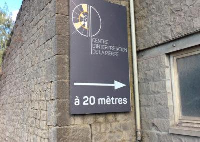 Impressions et placement de panneaux pour le centre d'interprétation de la pierre de Sprimont