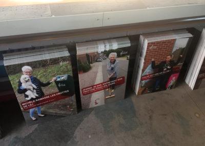 Impression de panneaux alvéolaires pour la commune de Herstal