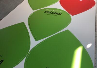 Impression de panneaux avec forme spéciale pour une grande surface