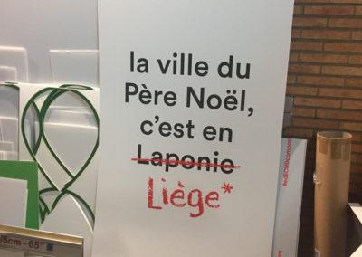 Impression de panneaux pour le village de Noël de Liège