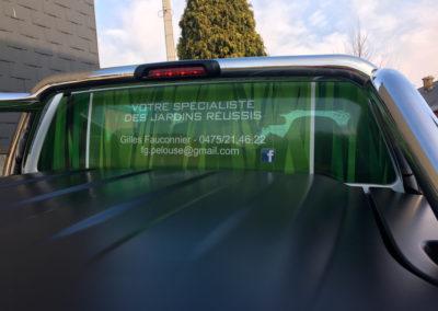 Lettrage de véhicule pour FG Pelouse