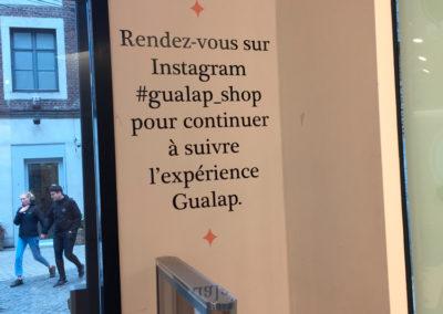 Lettrage mural pour Gualap à Liège