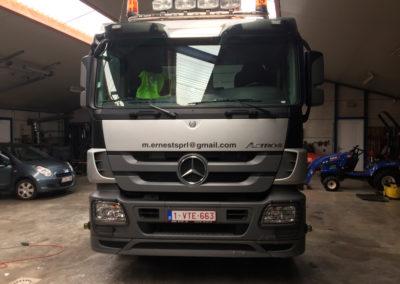 Lettrage de camion pour la société M.Ernest