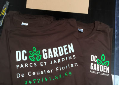 Impression sur t-shirts pour DC Garden