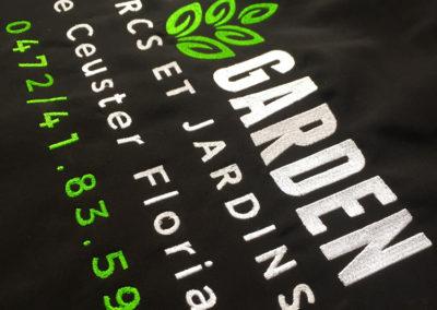 Broderie sur vestes pour DC Garden