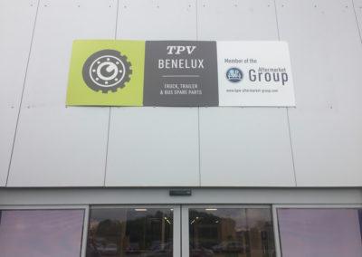 Impression d'un panneau pour la société BPW Benelux