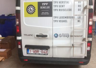 Lettrage de camionnette pour la société BPW Benelux