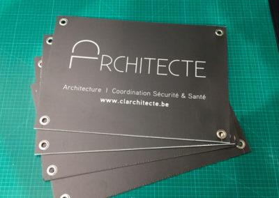 Impression de panneaux publicitaire pour une architecte