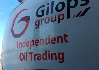 Lettrage de camion pour la société Gilops
