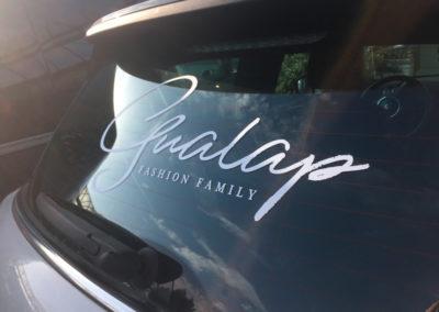 Lettrage de voiture pour Gualap