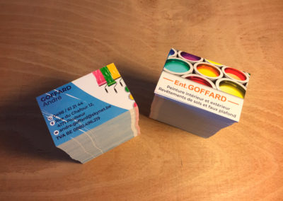 Impression de cartes de visite pour la société Goffard