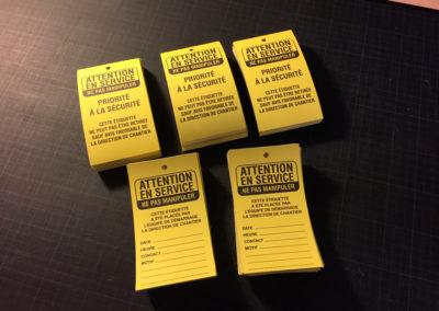 Impression d'étiquette sur papier indéchirable pour la société De Smet SA