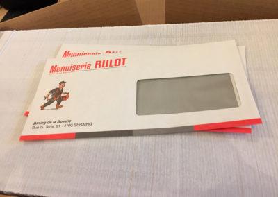 Impression d'enveloppes pour la menuiserie Rulot