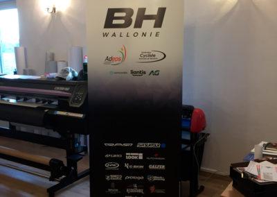 Rollup pour l'équipe cycliste BH Wallonie