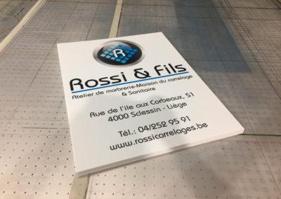 Impression sur panneaux pour Rossi & Fils