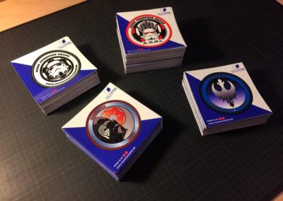Impression de stickers pour l'asbl DTS