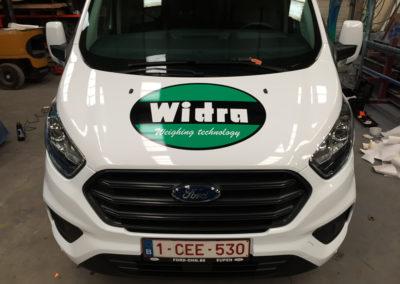 Lettrage de camionnettes pour la société WIDRA