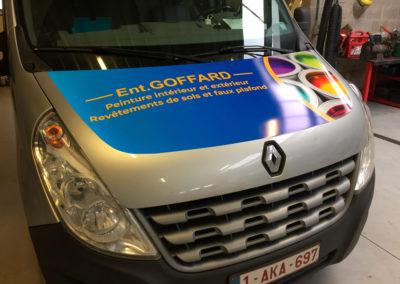 Lettrage de camionnettes pour la société Goffard