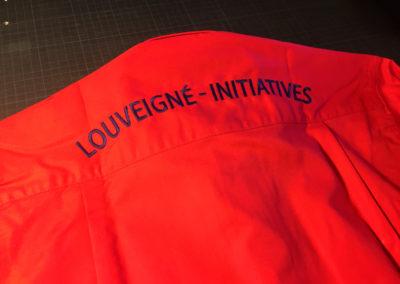 Broderies sur chemises pour Louveigné Initiatives