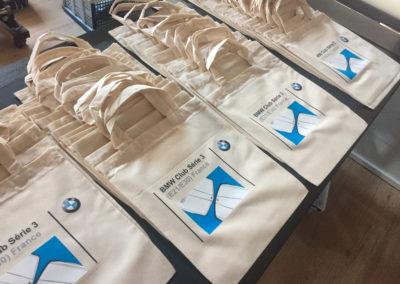 Impressions sur sacs en coton pour le club BMW E21/E30 France