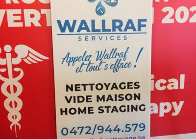 Impressions de panneaux alvéolaires pour la société Wallraf Nettoyage