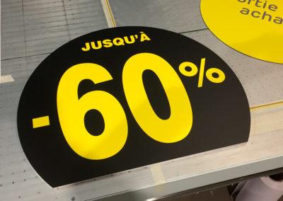 Impressions de panneaux pour un magasin Brico