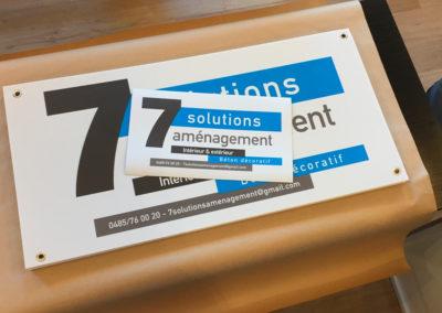 Impressions sur panneaux alvéolaires pour la société 7 Sloutions aménagement
