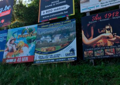 Impression et placement de panneau publicitaire pour Castor Immo