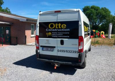 Lettrage de camionnette pour Otte Construction