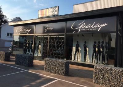 Lettrage de vitrine pour Gualap à Lontzen