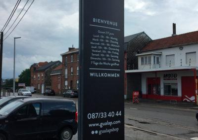 Panneaux pour Gualap à Lontzen