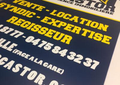 Impression de panneau publicitaire pour l'agence Castor Immo