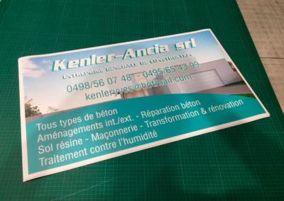 Impression de magnettes pour la société Kenler & Ancia