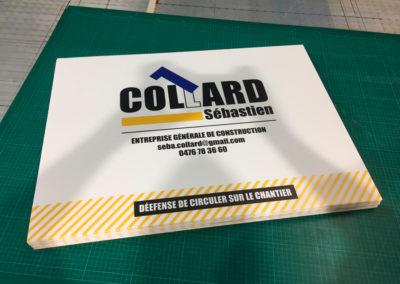 Impressions sur panneaux alvéolaires pour la société Collard