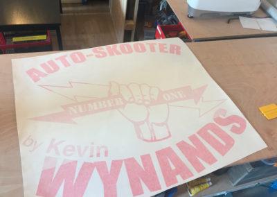 Lettrage pour les auto-scooter Kevin Wynands