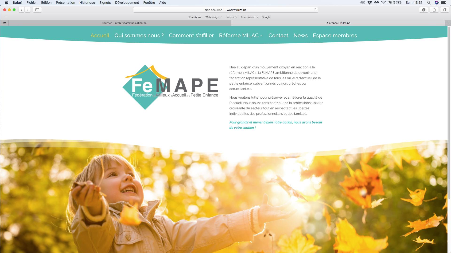 Site internet FeMAPE