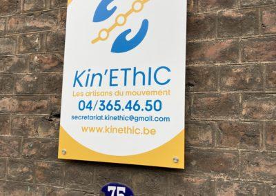 Panneau DIBOND pour affichage extérieur pour Kin'Ethic.