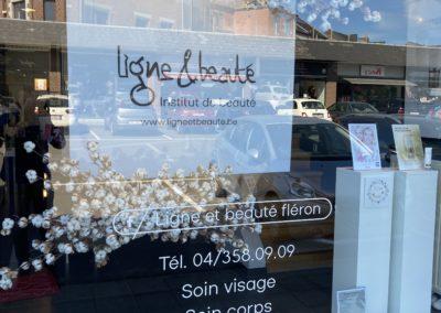 Lettrage et panneaux pour la salon Ligne&Beauté